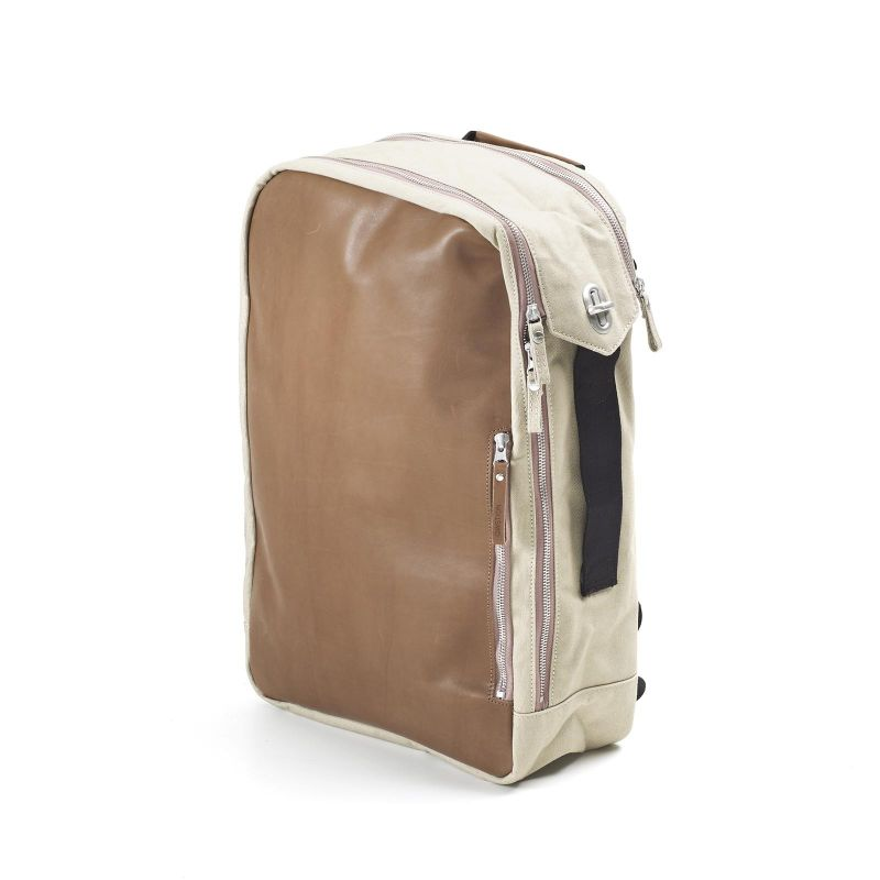 Backpack - Brown Leather Canvas