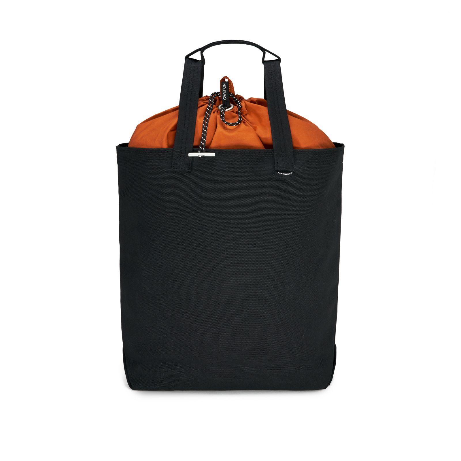 Bananatex® Tote Bag Medium - All Black Robin