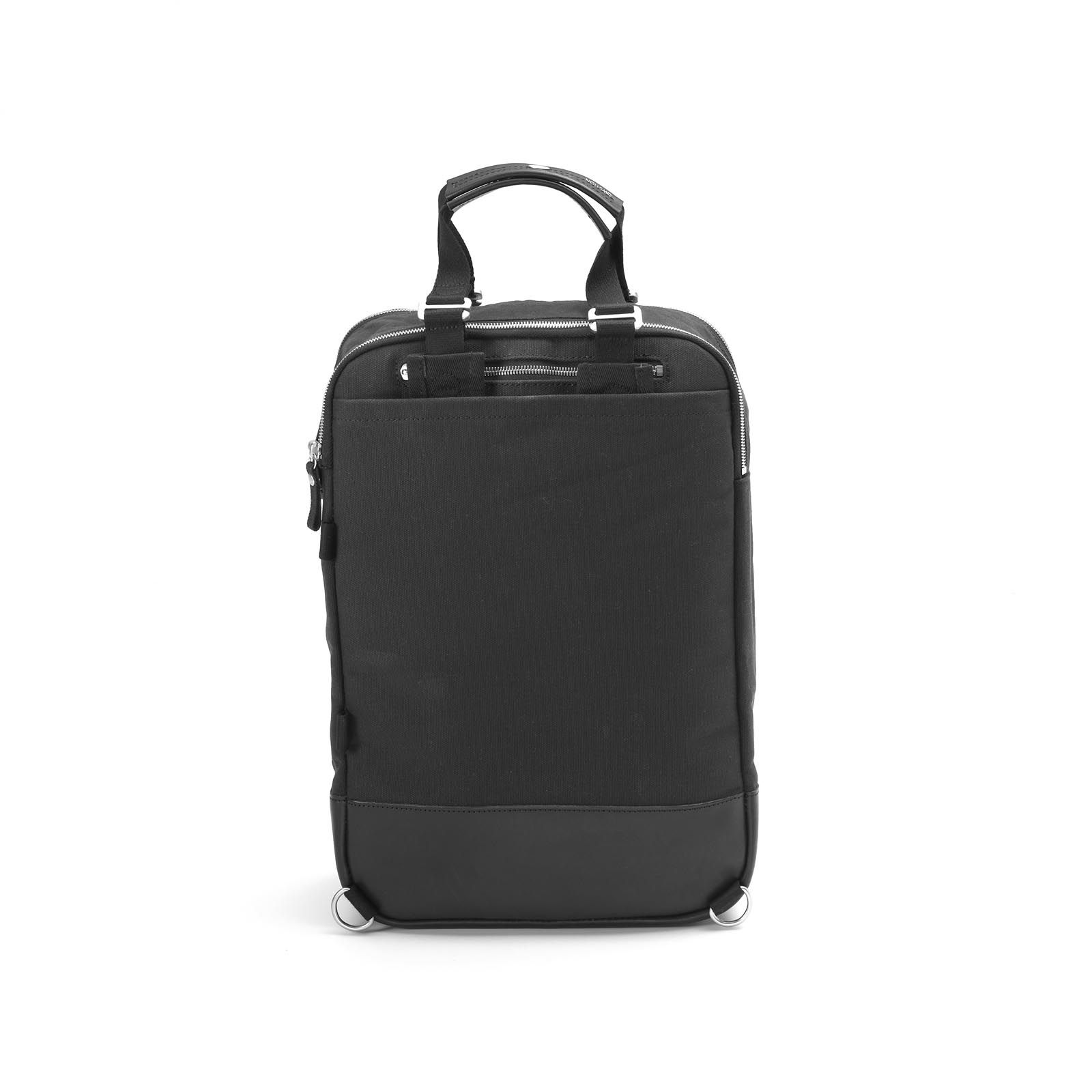 Daypack - Black Leather Canvas