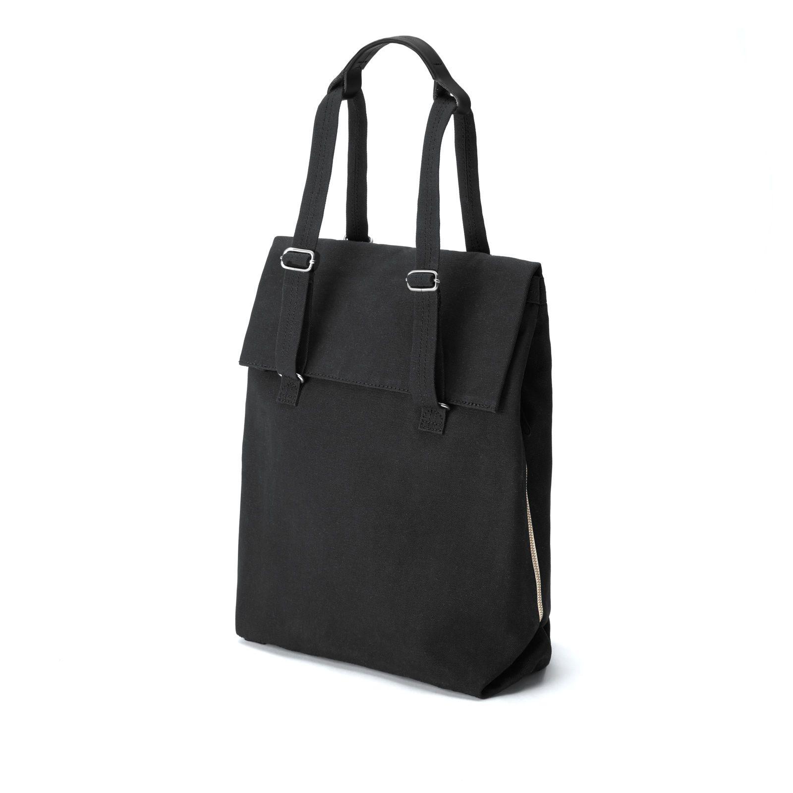 Flap Tote Medium / Bananatex® - All Black