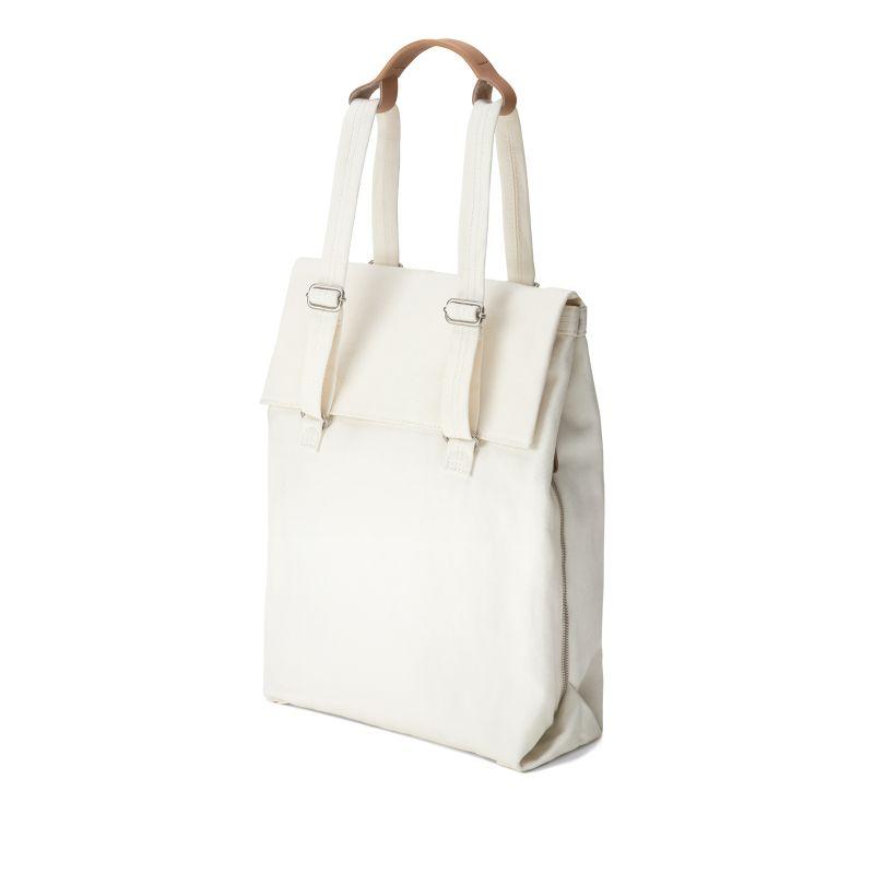 Flap Tote Medium / Bananatex® - Natural White