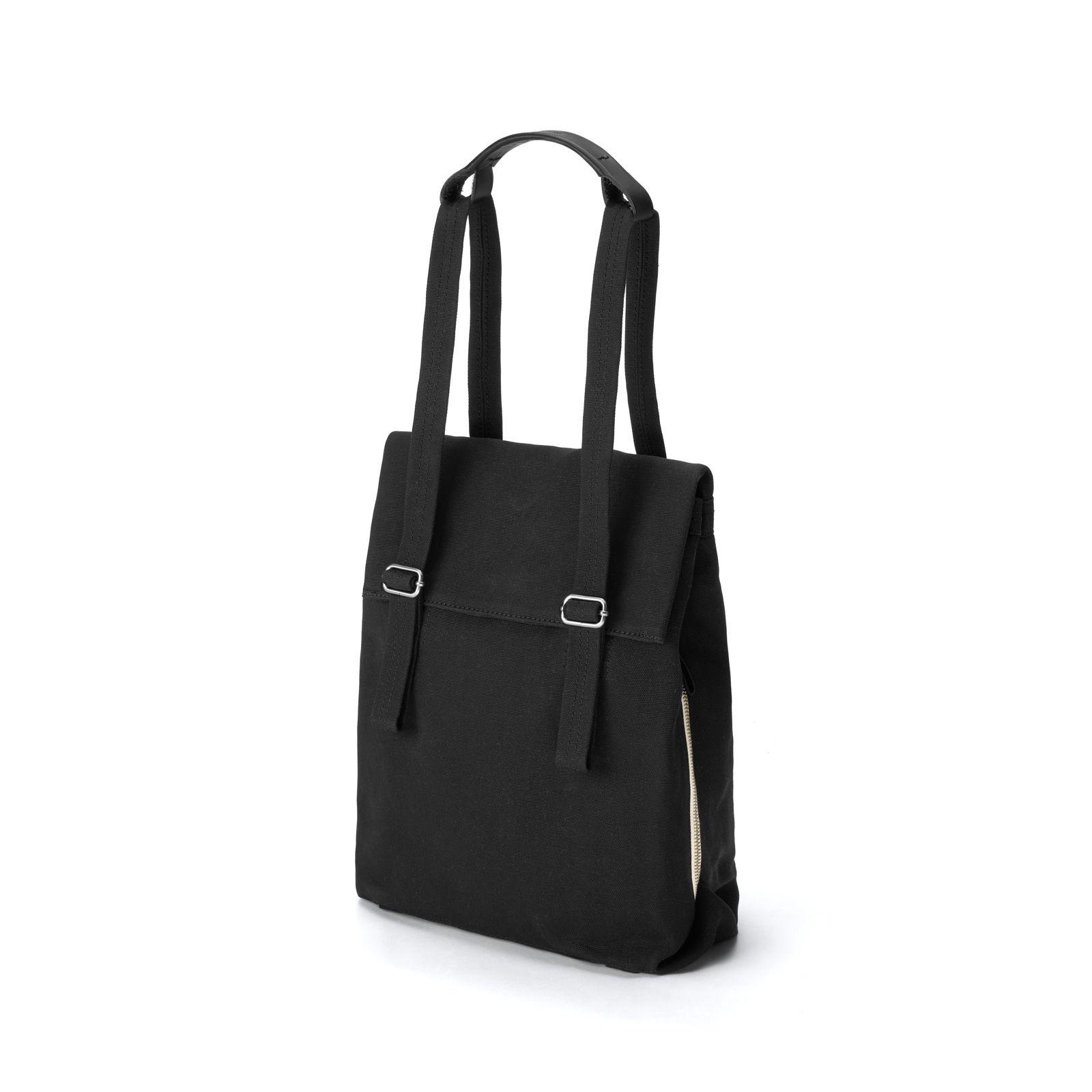 Flap Tote Small / Bananatex® - All Black