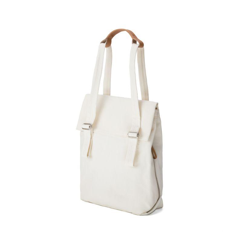 Flap Tote Small / Bananatex® - Natural White