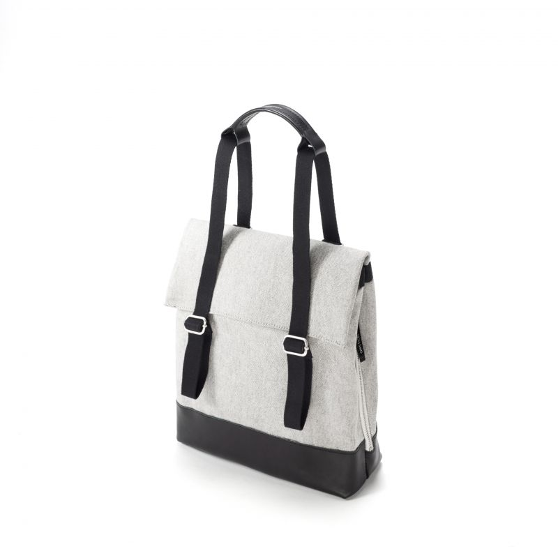 Small Tote - Raw Blend Leather Canvas