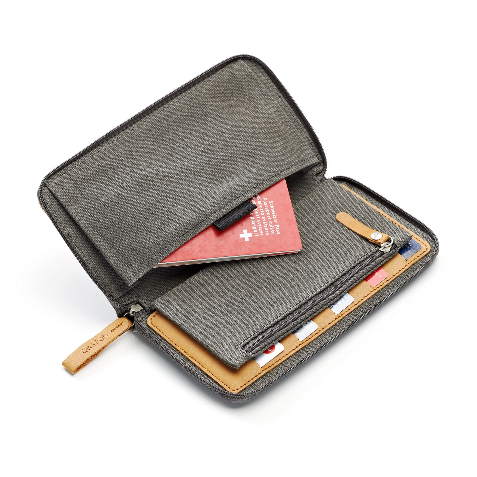 Travel Wallet - Washed Grey