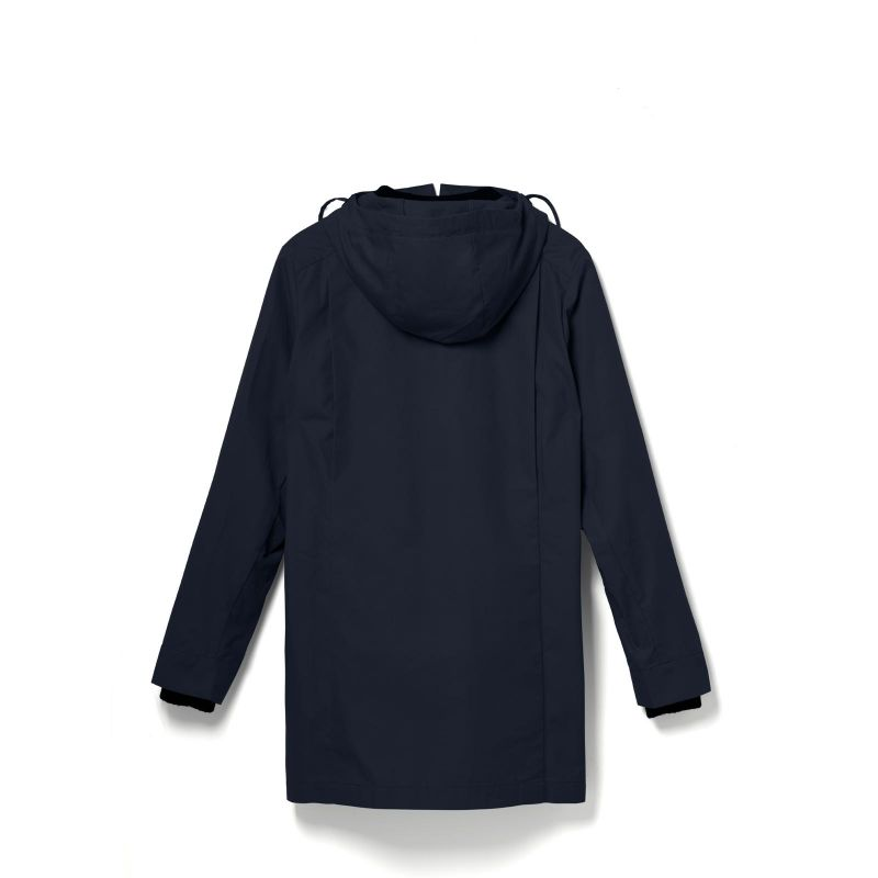 Qwstion All Weather Coat Organic Navy Organic Navy