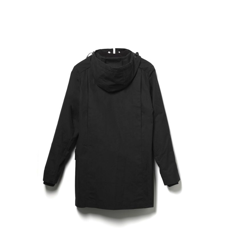 Qwstion All Weather Coat Organic Black Organic Black