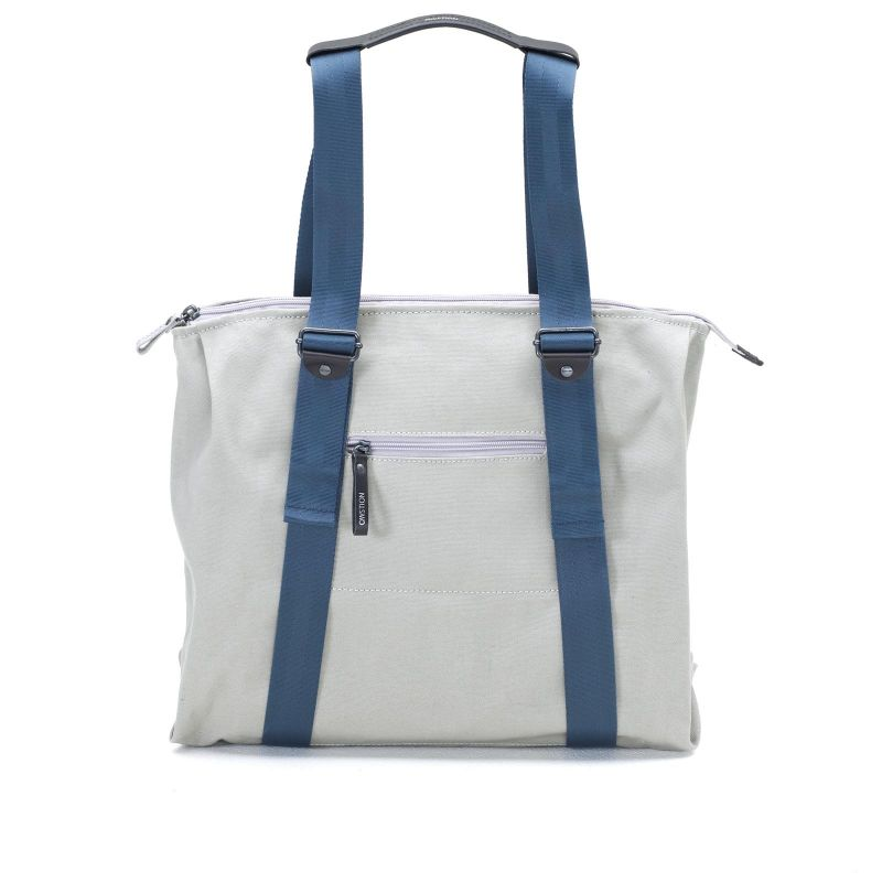 Simple Ziptote - Organic Light Grey